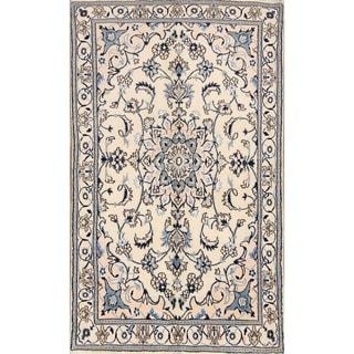 """Traditional Hand Made Wool & Silk Nain Isfahan Persian Area Rug - 6'5"""" x 3'9"""""""