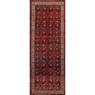 "Hamedan Hand Made Wool Oriental Persian Traditional Rug - 10'2"" x 3'10"" runner"