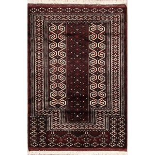 "Turkoman Balouch Handmade Persian Wool Area Rug Oriental - 3'9"" x 2'9"""