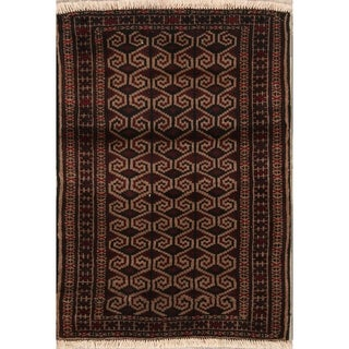 """Oriental Turkoman Balouch Bokhara Hand Knotted Persian Area Rug - 3'8"""" x 2'7"""""""