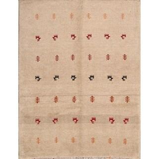 "Shiraz Qashqai Handmade Gabbeh Persian Traditional Area Rug Wool - 4'4"" x 3'4"""