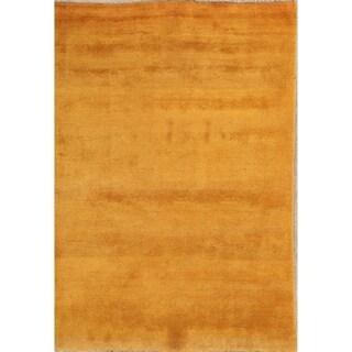 "Gabbeh Shiraz Handmade Persian Wool Solid Area Rug - 8'6"" x 5'10"""