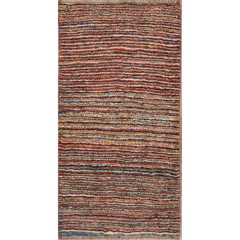 "Classical Wool Shiraz Hand Made Gabbeh Persian Tribal Rug Oriental - 5'5"" x 2'10"" runner"