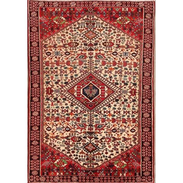 "Traditional Hand Made Abadeh Shiraz Persian Area Rug Tribal Wool - 4'9"" x 3'3"""