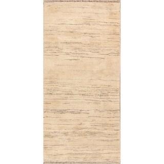 "Classical Shiraz Hand Made Gabbeh Wool Persian Rug Tribal Oriental - 6'4"" x 3'0"" runner"