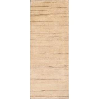 "Hand Knotted Classical Shiraz Gabbeh Persian Oriental Wool Rug - 7'0"" x 2'10"" runner"