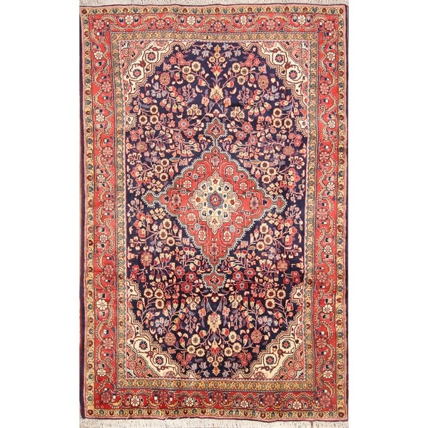"Traditional Sarouk Handmade Vintage Persian Area Rug Wool - 6'10"" x 4'5"""