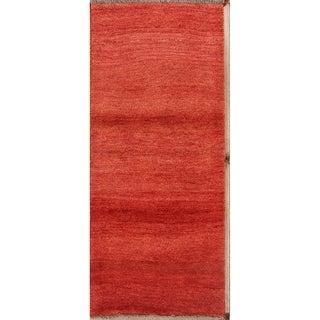 "Hand Made Wool Shiraz Gabbeh Persian Oriental Rug - 5'10"" x 2'7"" runner"