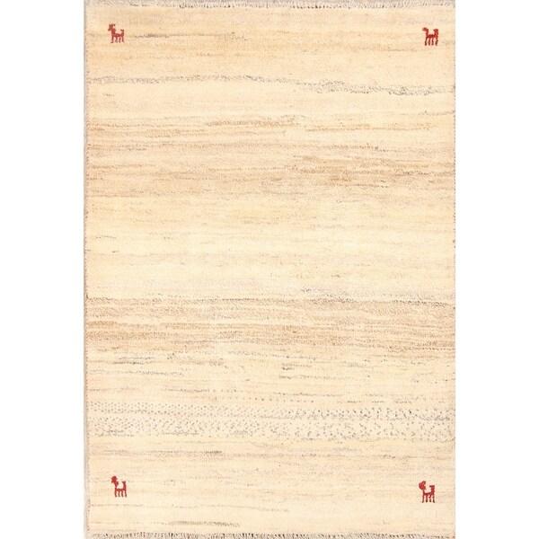 "Classical Shiraz Qashqai Hand Knotted Gabbeh Persian Area Rug Wool - 5'1"" x 3'7"""