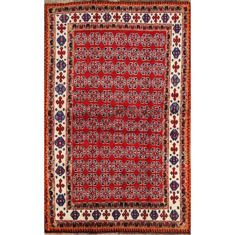 "Shiraz Qashqai Hand Knotted Gabbeh Persian Area Rug Wool Oriental - 6'8"" x 4'5"""