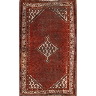 "Antique Botemir Hand Knotted Persian Traditional Area Rug Wool - 6'8"" x 4'2"""