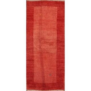 """Hand Knotted Wool Shiraz Gabbeh Persian Modern Rug Oriental - 6'3"""" x 2'8"""" runner"""