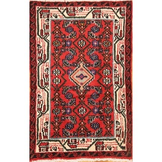 """Oriental Traditional Hand Knotted Hamedan Vintage Persian Area Rug - 3'6"""" x 2'2"""""""
