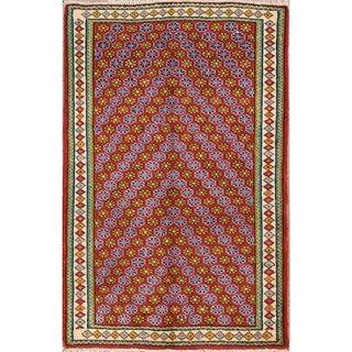 "Wool Shiraz Hand Knotted Vintage Persian Traditional Area Rug - 4'8"" x 3'2"""