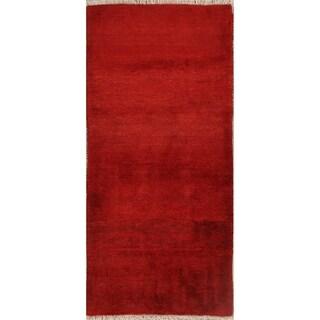 "Hand Made Wool Shiraz Gabbeh Persian Tribal Rug Oriental - 6'4"" x 2'11"" runner"