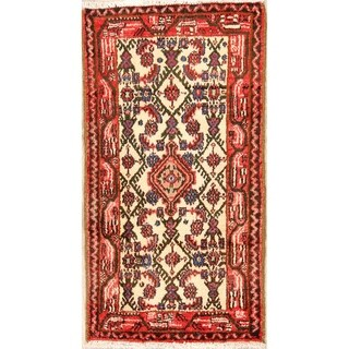 "Genuine Wool Handmade Hamedan Persian Tribal Area Rug - 3'11"" x 2'1"""