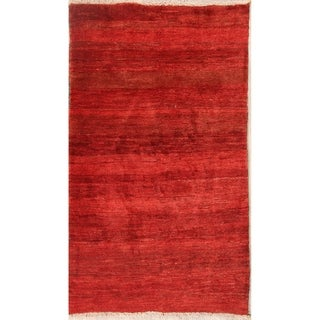 "Classical Shiraz Hand Knotted Gabbeh Persian Solid Area Rug Wool - 5'0"" x 3'7"""