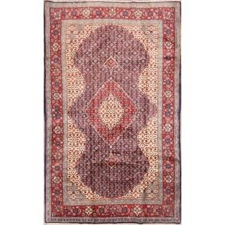 "Traditional Handmade Vintage Persian Tabriz Wool Area Rug - 6'9"" x 4'2"""