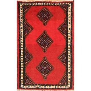 "Hamedan Hand Made Woolen Persian Traditional Area Rug Tribal - 3'9"" x 2'5"""