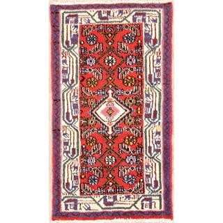 "Hand Knotted Hamedan Persian Traditional Area Rug Wool - 3'8"" x 2'1"""