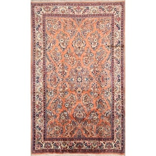 "Sarouk Handmade Vintage Persian Traditional Area Rug Wool - 7'1"" x 4'4"""