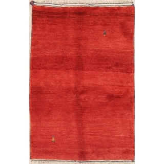 """Qashqai Hand Knotted Wool Gabbeh Persian Tribal Area Rug Oriental - 5'3"""" x 3'6"""""""