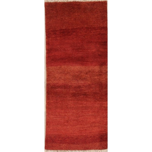 "Classical Shiraz Gabbeh Hand Knotted Tribal Wool Persian Rug Oriental - 6'5"" x 2'7"" runner"