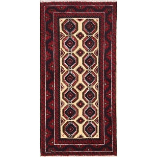 "Balouch Hand Knotted Persian Traditional Rugs Wool - 6'1"" x 3'0"" runner"