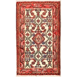"Wool Handmade Hamedan Persian Oriental Traditional Area Rug - 3'8"" x 2'2"""