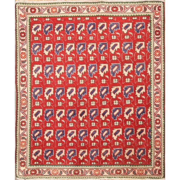 """Ardebil Hand Made Vintage Persian Traditional Area Rug - 3'7"""" x 3'0"""""""