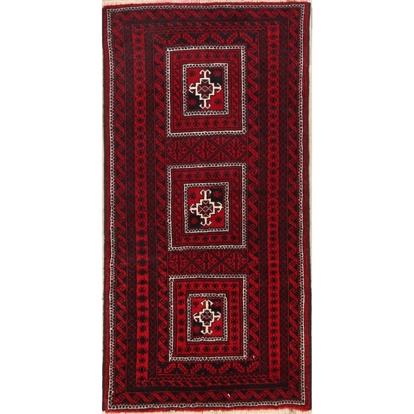 "Balouch Hand Knotted Persian Traditional Area Rug Wool - 6'3"" x 3'5"""