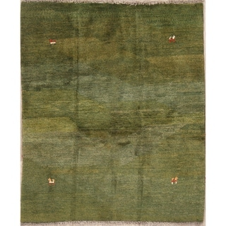 "Gabbeh Shiraz Hand Made Wool Persian Area Rug Modern Oriental - 5'8"" x 4'9"""