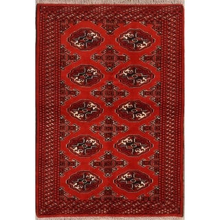 """Classical Hand Knotted Balouch Bokhara Turkoman Persian Area Rug Wool - 4'9"""" x 3'4"""""""