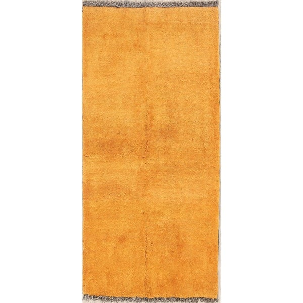 """Gabbeh Shiraz Hand Knotted Wool Persian Solid Area Rug Orange - 5'1"""" x 3'7"""""""