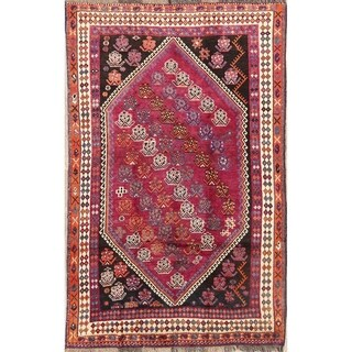 "Lori Shiraz Hand Made Vintage Persian Traditional Wool Area Rug - 8'4"" x 5'2"""