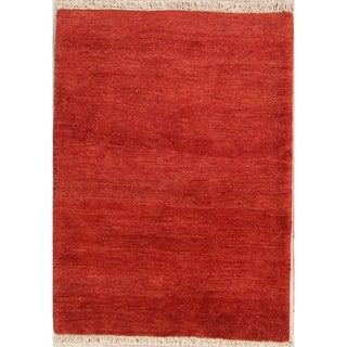 "Wool Handmade Solid Shiraz Gabbeh Persian Traditional Area Rug - 4'9"" x 3'6"""