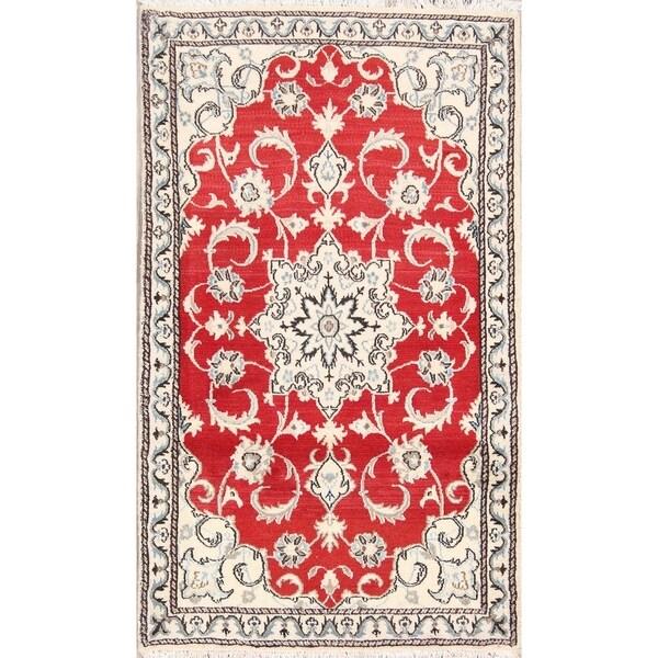 "Classical Hand Made Nain Isfahan Persian Traditional Area Rug Wool - 4'11"" x 2'10"""
