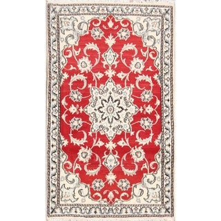 "Classical Hand Made Nain Isfahan Persian Traditional Area Rug Wool - 4'11"" x 2'10"""