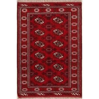 "Classical Hand Made Woolen Balouch Bokhara Turkoman Persian Area Rug - 4'11"" x 3'4"""