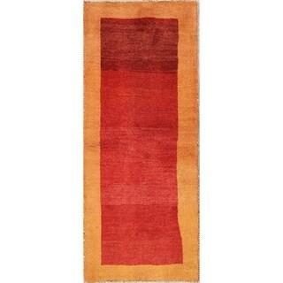 "Classical Hand Knotted Wool Shiraz Gabbeh Persian Tradtional Rug - 6'5"" x 2'7"" runner"