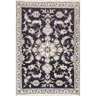"Classical Hand Made Nain Isfahan Persian Traditional Area Rug Wool - 4'4"" x 2'11"""