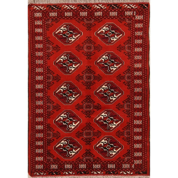 Clical Hand Made Balouch Bokhara Turkoman Persian Area Rug Wool 4 X27 8