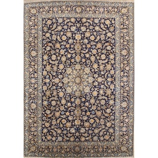 "Kashan Hand Knotted Vintage Persian Traditional Area Rug Wool - 13'0"" x 9'8"""