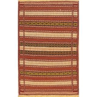 "Classical Kilim Wool Shiraz Hand Made Persian Area Rug Wool - 5'2"" x 3'3"""