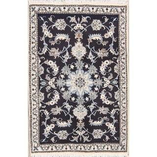 "Classical Hand Made Nain Isfahan Persian Traditional Area Rug Wool - 4'6"" x 2'11"""