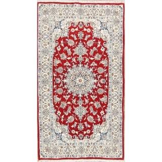 "Classical Hand Made Nain Isfahan Persian Traditional Wool Area Rug - 6'8"" x 3'9"""