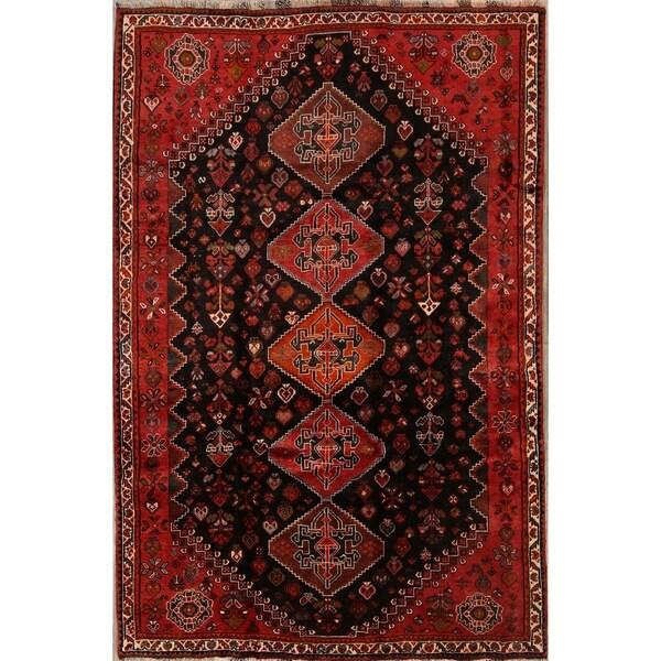 "Classical Shiraz Nafar Hand Made Vintage Persian Area Rug Oriental - 8'11"" x 5'9"""