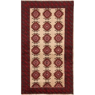 "Hand Knotted Oriental Traditional Balouch Persian Rug Wool - 5'9"" x 3'2"" runner"