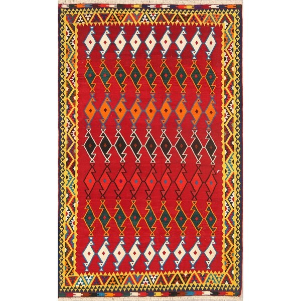 "Classical Kilim Shiraz Lori Hand Woven Persian Traditional Area Rug - 8'0"" x 5'0"""