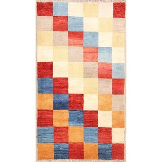 "Classical Wool Handmade Tribal Shiraz Gabbeh Persian Rug Oriental - 6'3"" x 3'4"" runner"